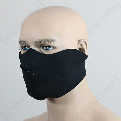 Tactical NEOPRENE HALF MASK Thermal Face Protection Ski Black Paintball Airsoft