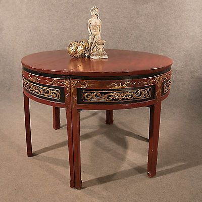 Antique Centre Display Table Pair of Demi Lune Side Lamp Tables Chinese c1850