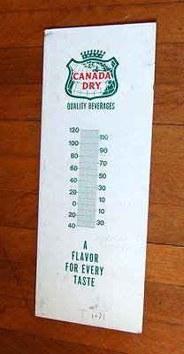 Vintage Canada Dry uncut metal thermometer~factory proof