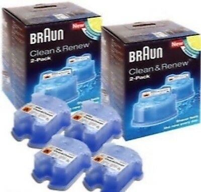 2 x Braun CCR2 Clean and Renew Mens Electric Shaver Hygienic Refill Cartridge 4