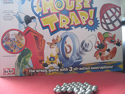 HASBRO MOUSE TRAP GAME Toilet Version: 3x Replacement Spare Steel Balls Bearings
