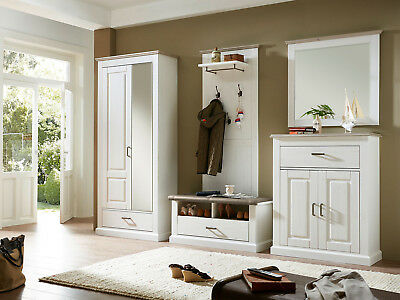 wandgarderobe jan garderobe spiegel kompaktgarderobe flur komplettgarderobe set eur 53 95. Black Bedroom Furniture Sets. Home Design Ideas