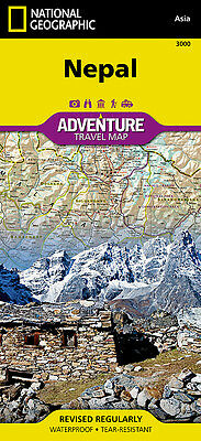Nepal Adventure Travel Map National Geographic Waterproof