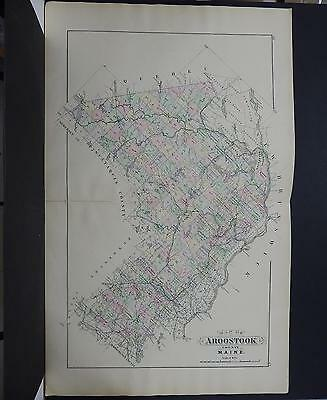 Maine, Antique Map, 1903 Aroostook County NOT A REPRODUCTION