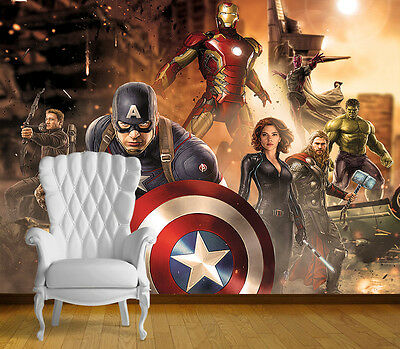 Avengers Super Hero Wall Art Wall Mural Any Size Self Adhesive Vinyl Decal 3