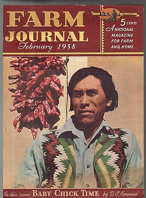 1938 Farm Journal February cover  - Apache and Hatch chilis