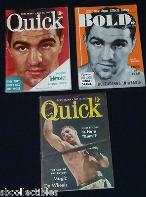 1950's - Rocky Marciano - Bold & Quick - Magazines Cover - (3)
