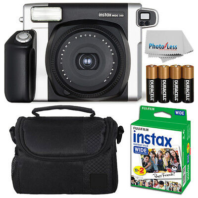 Fujifilm Fuji INSTAX Wide 300 Instant Film Camera + 20 Films + More Value Kit