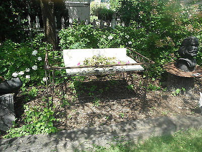 Antique  WROUGHT CAST IRON TABLE Old Garden ART NOUVEAU DECO RARE Salvage