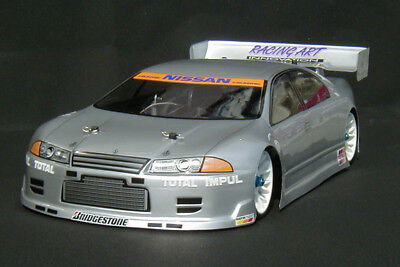 1:10 RC Clear Lexan Body Nissan R32 4 door 200mm Nitro or Electric Colt
