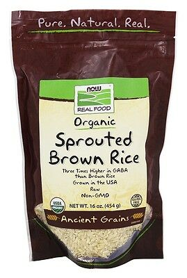 Now Foods Organic Sprouted Brown Rice - 16 oz (454 g)