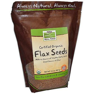 Organic Flax Seeds 2 lb By Now Foods