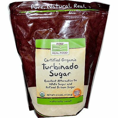 Now Foods Certified Organic Turbinado Sugar - 2.5 lbs (1134 g)