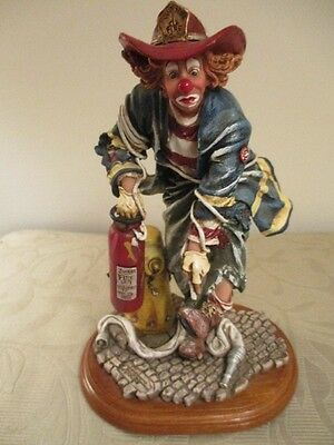 "Rare Clowning in America Figurine ""Firefighter"" CO88902 Edition#2/0190 1997"