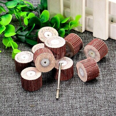 10X FLAP WHEELS/Polish pad 80 Grit Power Accessories for Grinder Rotary Tool