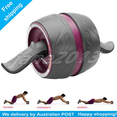 AB Wheel Roller Workout Exercise GYM Fitness Six Pack Abs Carver by Perfect Fit