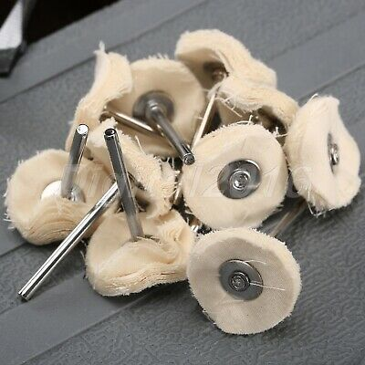 10pcs Cloth Polishing Pad Buffing Wheel Buffer Pad Shank For Grinder Rotary Tool