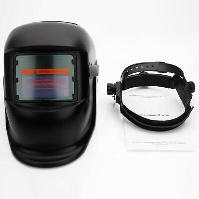 New Pro Solar Powered Auto Darkening Welding Helmet Grinding Welder Mask Black