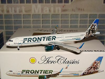 Aeroclassics Frontier A321 1/400 N701FR Otto The OWL **Free S&H** 0516