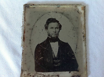 Antique Ambrotype - Distinguished Young Gentleman - 1/6th Plate