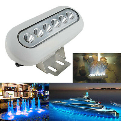 12W 12V Underwater LED Lights Yacht Boat Marine Lamp Fishing Light waterproof