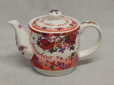 Cardew Designs Pink Chintz Small Teapot Red Hat Society