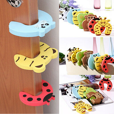 5PCS Child Baby Door Jammers Stop Stopper Safety Finger Guard Protector New LXT