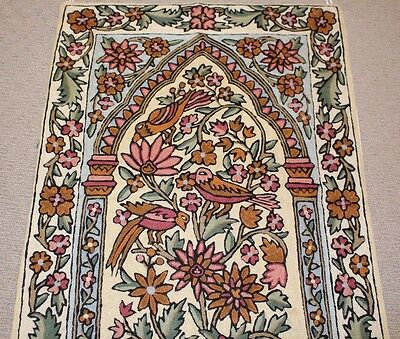Persian Kashmir Hand Made Wool Rug Wall Hanging Home Room House Floor Antique