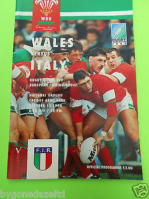 WALES v ITALY 1994 RUGBY PROGRAMME RWC QUALIFIER