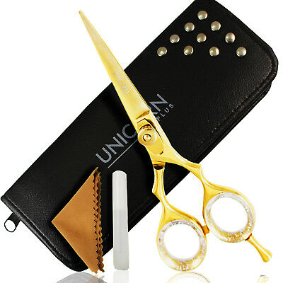 Professional Hairdressing Scissors Barber Hair Shears Titanium GOLD Razor Sharp