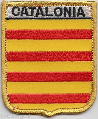 France Catalonia Flag Shield Embroidered Patch Badge