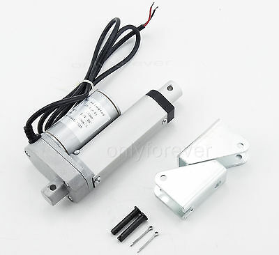 12V DC Linear Actuator Motor 750N 165LBS 50 100 200 400mm Electric Door Opener