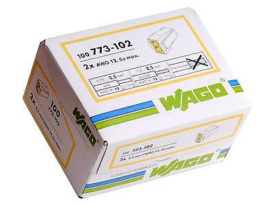 Wago 773-102 2 way Push Fit Terminal Connector Full Box of 100