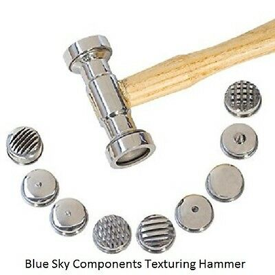 Texturing Hammer 9 Interchangeable Heads For Jewellers Repousse Craft Model