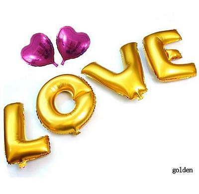 40cm LOVE Letter metallic colorful foil mylar helium Balloons Wedding Party