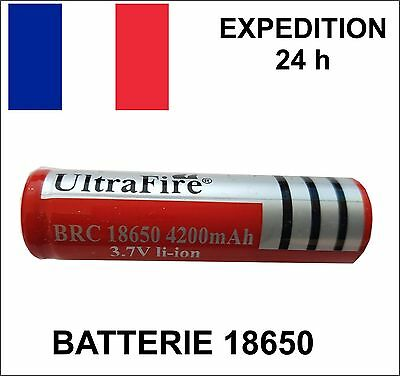 BATTERIE rechargable ULTRAFIRE ACCU 18650 3.7V LI-ION 4200 mAh LED