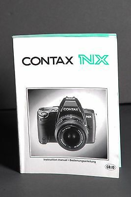Contax Genuine NX Camera Instruction Book / Manual / User Guide