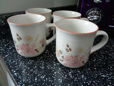 Boots Hedge Rose Mugs X 4