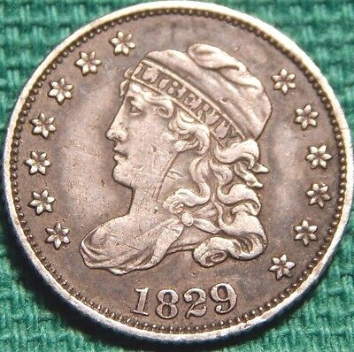1829 Capped Bust Silver Half Dime Circulated Philadelphia Mint Nice!!