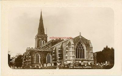 Real Photographic Postcard Of Finedon Church, (Near Kettering), Northamptonshire