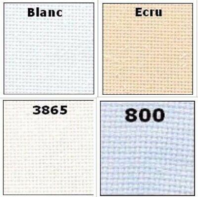 DMC 25 Count Evenweave Cross Stitch Embroidery Fabric CHOOSE 4 COLOURS 7 SIZES