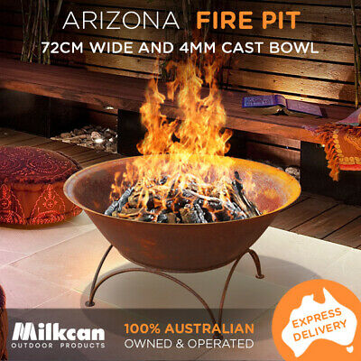 Rust Arizona 70 Cast Bowl Outdoor Fire Pit Fireplace Large Bowl