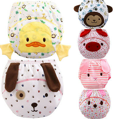 Baby Infant Toddler Reusable Cartoon Ruffle Breathable Panties Diaper Cover Pant