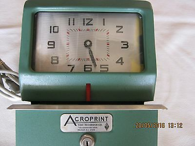 Acroprint Model 125NR4 Manual Time Recorder
