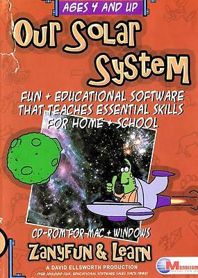 Our Solar System Educational Win 7 Game Essential Skills Zany Fun Learn Computer
