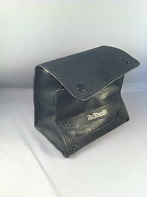 Black Leather Tobacco Pouch - Cigarette Rolling Box Pouch -  Dr Plumb