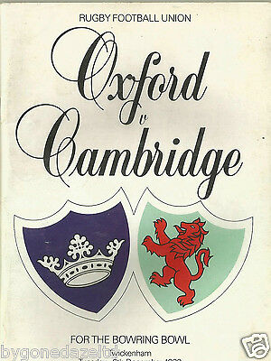 OXFORD v CAMBRIDGE 8th December 1987 Rugby Programme