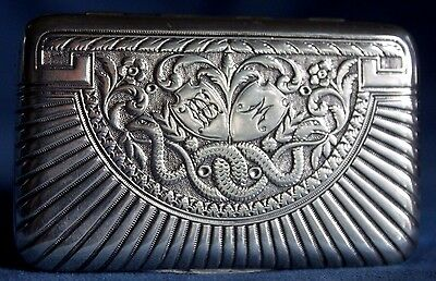 Fine Antique Early 19th Century Sterling Silver Serpent Snake Austrian Snuff Box