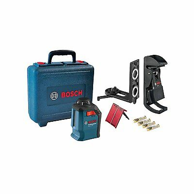 New Bosch GLL 2-20 Dual Crossline Self-Leveling Plumb Laser with Priority Mail