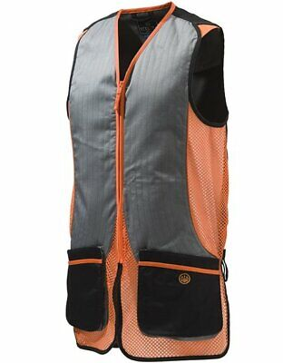 Beretta Silver Pigeon Vest Skeet Clay Shooting Orange Mesh